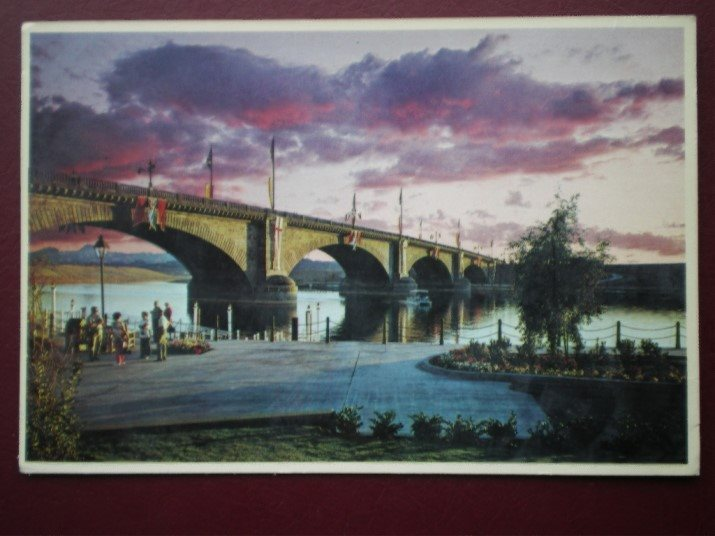 Postcard Usa Arizona London Bridge Lake Havasu City Ebay